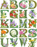Enjoy stitching this large alphabet celebrating all the flowers in the garden.
