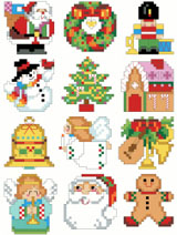 These tiny designs work up quickly and can be used for a variety of holiday purposes.