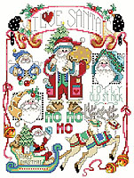 This Santa Sampler is full of reminders of the Christmas Season.