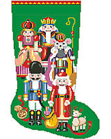 A nutcracker for a stocking for Christmas, what more could a little girl or boy want? This unique motif combines a variety of classic nutcracker designs from around the world.