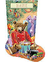 Create a gorgeous stocking that will be enjoyed for years. Rich coloring and exquisite design will make this Little Drummer Bear a treasured Christmas piece.