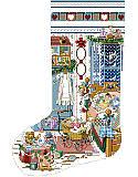 Sugar & Spice Heirloom Stocking - PDF: Little girls room is a feminine and elaborate setting.