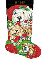 Soft and oh-so-huggable, these cute, cuddly puppies are sure to attract the attention of Santa! This piece would make a great gift for any dog lover or beloved pet!