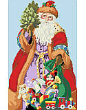 Jolly Santa & Toys - PDF: Santa is delivering toys to good boys and girls!