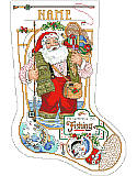 "I'd Rather Be Fishing Stocking - PDF: An Angler's delight!  Santa has ""Gone Fishing"" until he's pressed into service on Christmas Eve. A perfect stocking for the fisher person in your life."