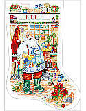 Welcome to My Garden Stocking - PDF: Hang this classic Santa Gardening stocking by your chimney with care as a festive accent, then fill it with gardening gifts and surprises for a merry Christmas morning.