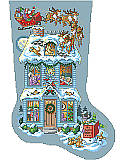 Twas the Night Before Christmas Stocking - PDF: See how Sandy Orton imagined the Night Before Christmas really looked.