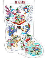 "We share ""Snow"" much joy and happiness with our family and friends in an enchanting wonderland stocking."