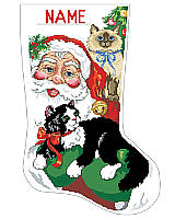 Santa with kittens, what a Purr-fect combination!