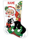 Santa's Furry Friends Stocking - PDF: Santa with kittens, what a Purr-fect combination!