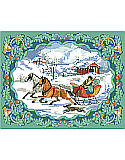 To Grandmother's House We Go - PDF: Your home will begin to feel a lot like Christmas with our Victorian-inspired winter scene. Vintage postcards were the inspiration for the elegant Nostalgic Christmas picture by Sandy Orton.