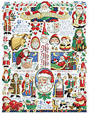 Santa Christmas Sampler - PDF: Whether you call him Kris Kringle or père Noël, Santa is beloved all over the world.
