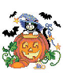 Cat, Bats & Pumpkin - PDF