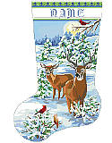 Snowy Forest Evening Stocking - Chart