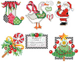 PDF Download- Part one of a set of four matching Christmas ornaments.