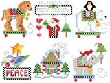 PDF Down load- Fourth set of checkered ornaments
