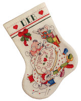 Our mice are stirring around putting finishing touches on their stocking.