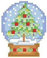 Новогодние схемки K1135_HolidaySnowglobe_md