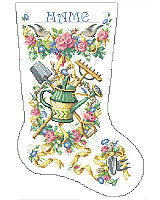 This stocking designed for the gardener in your life blooms with color and cheerful blossoms. Reward that green thumb with this gorgeous heirloom stocking that will be cherished for a lifetime.