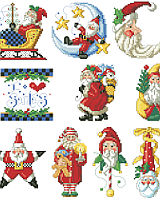 Old world Santas abound in this delightful collection of I Love Santa ornaments. 10 charming designs with motifs of stars, moons, sleighs and more will look great hanging from a traditional tree.
