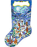 Christmas Village Stocking - Chart