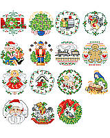Just a little something special for people too nice to forget. Thirty delightful Counted Cross-stitch ornaments to grace wreath, tree or package