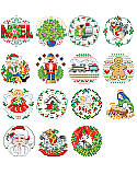 Lotsa Christmas Ornaments, Set 1 - PDF: Just a little something special for people too nice to forget. Thirty delightful Counted Cross-stitch ornaments to grace wreath, tree or package