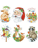 Bring the joy of the forest into your home and onto your tree with these lovely wildlife creatures and Santa, himself, ornaments.