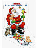 Santa and Animals Stocking - PDF: The best gift of all! Caring and sharing the gifts of love, food for the soul;