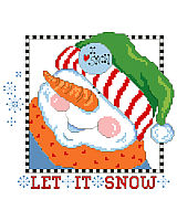 This dapper snowman loves snow! So, bring it on! Make up this snow-full pillow for entry hall or family room and  Let*It*Snow. Quick and easy and guaranteed not to melt.