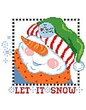 Let It Snow Snowman Head - PDF: This dapper snowman loves snow! So, bring it on! Make up this snow-full pillow for entry hall or family room and  Let*It*Snow. Quick and easy and guaranteed not to melt.