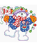 Jump for joy when trimming the tree with colorful lights and hear the bells for a magical holiday season. This Joyful Snowman in Big Stitch is sure to light up many holiday memories.