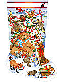 A Wild Life Christmas Stocking - PDF: Wild animals come together to help decorate their own Christmas Tree in the snow.