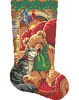 Christmas Cuddles is a classic stocking that will warm your heart.