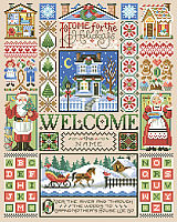 Let's stay Home for the holidays with this charming and welcoming Scandinavian style Christmas sampler design by Sandy Orton.