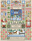 Home For The Holidays Sampler - PDF: Let's stay Home for the holidays with this charming and welcoming Scandinavian style Christmas sampler design by Sandy Orton.
