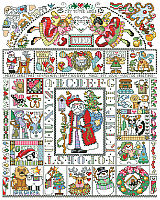 Our Folk Art Christmas Sampler is packed full of every Christmas motif you can think of. This country folk art style design by Barbara Baatz Hillman will be an heirloom for generations to come.