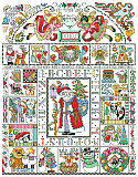 Folk Art Christmas Sampler - PDF: Our Folk Art Christmas Sampler is packed full of every Christmas motif you can think of. This country folk art style design by Barbara Baatz Hillman will be an heirloom for generations to come.
