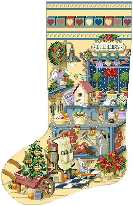 Kooler Design Studio Gardener S Delight Heirloom Stocking Pdf