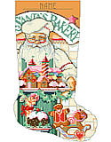 Baker Santa Stocking - PDF: Here is a side of Santa you never seen.