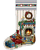 Home For Christmas is another of our coveted Heirloom Stockings designed by Sandy Orton.