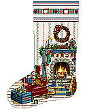 Home For Christmas Heirloom Stocking - PDF: Home For Christmas is another of our coveted Heirloom Stockings designed by Sandy Orton.
