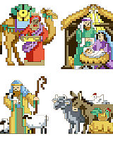 Nativity Ornaments - Cross Stitch PDF Download Chart