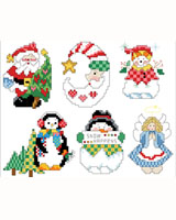 Snow Happens Ornaments - Cross Stitch PDF Download Chart