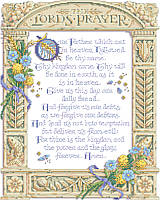 The Lord's prayer has so much meaning for Christians throughout the world, and this exquisitely detailed design features the prayer in its entirety.