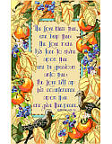 Bless Thee and Keep Thee - PDF: Grace your home with this delightful blessing prayer accented with fruits and birds and framed with autumn leaves.