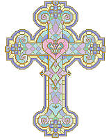 Display your faith with this beautiful stained glass cross in rich jewel tones and gold. 