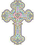 Stained Glass Cross - PDF: Display your faith with this beautiful stained glass cross in rich jewel tones and gold. 