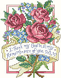 "Philippians 1:3 - PDF: A sweet bouquet of lilacs and roses illustrates the sentimental verse of Philippians 1:3. ""I thank my God in all my remembrance of you."" One of our popular Scriptures of Thanksgiving, this lovely design will inspire all who view it."