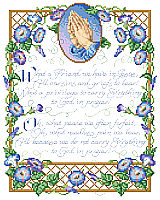Morning glories and praying hands encircle this gospel hymn written by Irishman Joseph Scriven in 1857. Scriven relocated to Port Hope, Ontario, Canada and was so beloved that he has a monument dedicated to his memory. This design elegantly illustrates Scriven's devoted words.